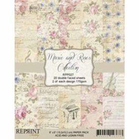 Reprint Music & Roses 6x6 Inch Paper Pack