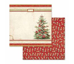 Stamperia Christmas Vintage 12x12 Inch Paper Sheet Christmas Tree