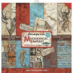 Stamperia Mechanical Fantasy 12x12 Inch Paper Pack