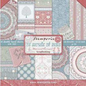 Stamperia 26 Secrets of India 12x12 Inch Paper Pack