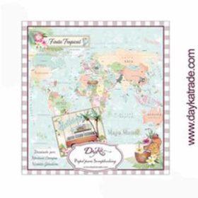 DayKa Trade Fiesta Tropical 8x8 Inch Paper Pad
