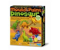 mould & paint dinosaur glow-in-dark