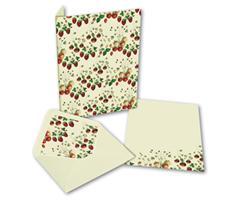 Brevpapir 10sett - markjordbær