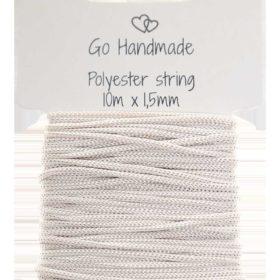 polyester string, beige 10m x 1,5mm