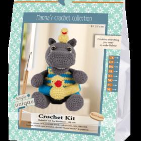 Crochet Kit - Helmut flodhest