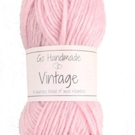 Vintage 25g, 70% wool/30% bamboo, soft pink
