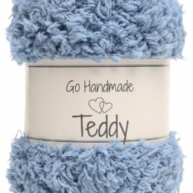 Teddy 50g, 100% polyester, jeans blue