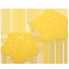 Teether ring - animal feet yellow, 2pcs