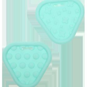Teether rings - triangle mint, 2pcs