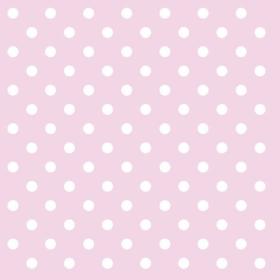 Serviett pastel dots rose, 33x33