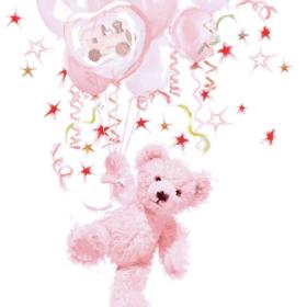 Serviett 33 teddy rose