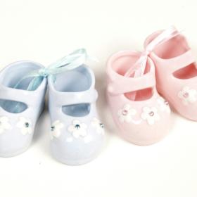 Babysko lysblå 5,8x2,2cm 1stk