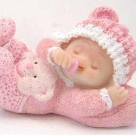 Baby liggende rosa