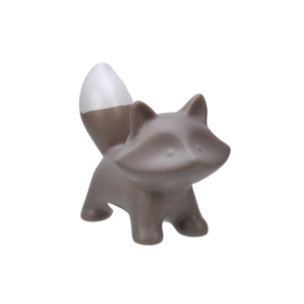 Rev 12,5x10cm lysgrå matt keramikk