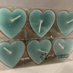 T-lys hjerte lysblå