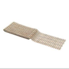 bordløper strass gull m/store hjerter 12x220cm