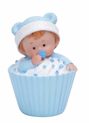 Baby i muffins blå