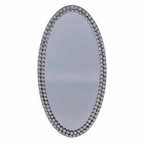 Lysfat speil oval 36x20cm