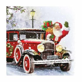 Serviett 33 Santa Automobile