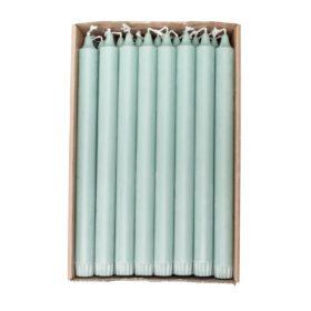 Økologisk kronelys 100% stearin 2,2x28cm grønn 1stk