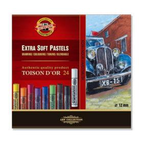 Koh-i-Noor Extra Soft Pastel Rund 8554 – Sett 24stk