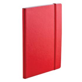EcoQua notebook A5 blank rød