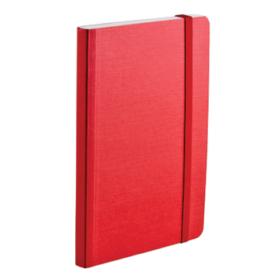 EcoQua notebook A6 blank rød