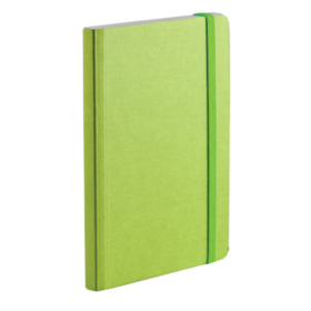 EcoQua notebook A6 prikker lime