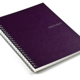 EcoQua notebook spiral A5 linjer lilla
