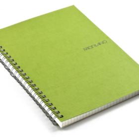 EcoQua notebook spiral A5 linjer lime