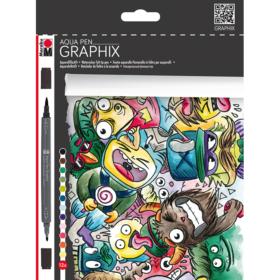 Graphix - Aqua Pen 12stk - Mega Mash