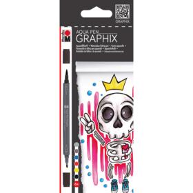 Graphix - Aqua Pen 6stk - Bubblegum