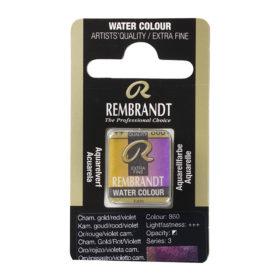 Rembrandt Akvarell Halfpan – 860 chameleon gold/red/violet