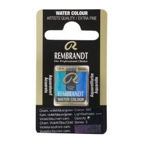 Rembrandt Akvarell Halfpan – 862 chameleon violet/blue/green