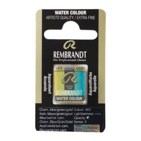 Rembrandt Akvarell Halfpan – 863 chameleon blue/green/gold