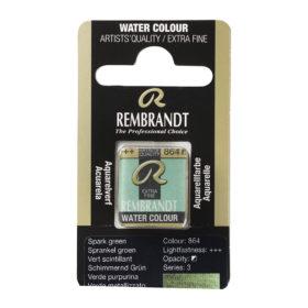 Rembrandt Akvarell Halfpan – 864 sparkle green