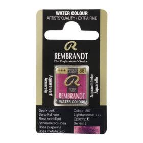 Rembrandt Akvarell Halfpan – 867 sparkle pink