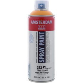 Amsterdam spray 400ml, 253 gold yellow
