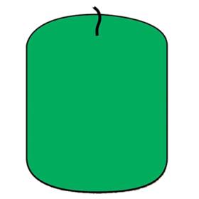 Lysfarge granulat, grønn