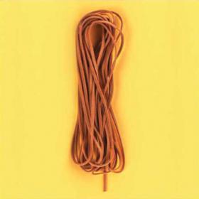 Imit. lærsnor 5m, brun