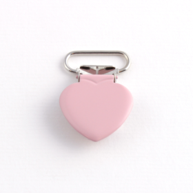 Seleklips hjerte 20mm rosa