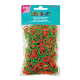 Joy Craft rubberband grønn/orange 600stk