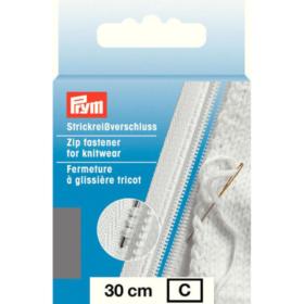 Prym Glidelås Strikk - 30cm medium grå
