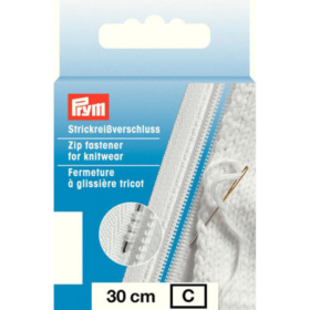 Prym Glidelås Strikk - 30cm hvit