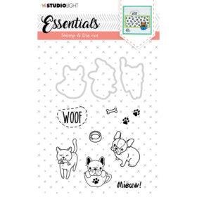 Studio Light Stamp & Die Cut A6 Essentials – Animals 30