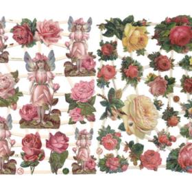 Glansbilder - roser/rosa roser