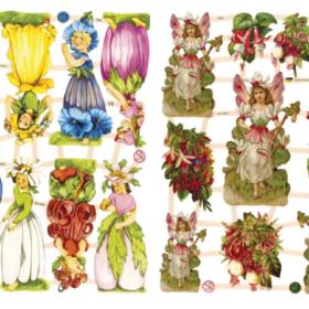 Glansbilder - blomsterpiker
