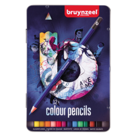 Bruynzeel B Blue – Fargeblyantsett i skrin 12stk