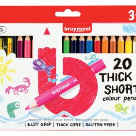 Bruynzeel KIDS – Thick & Short Fargeblyant 20stk