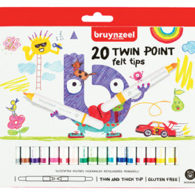 Bruynzeel KIDS – Twin Point-tusjer 20stk